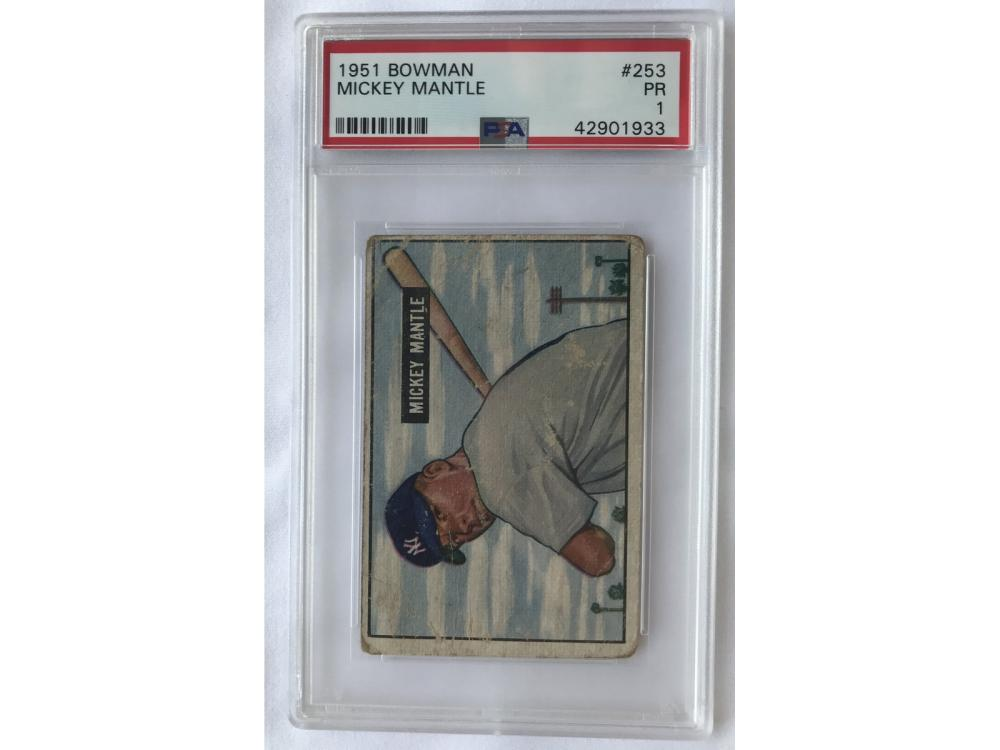 Psa 1 - 1951 Bowman Mickey Mantle Rookie