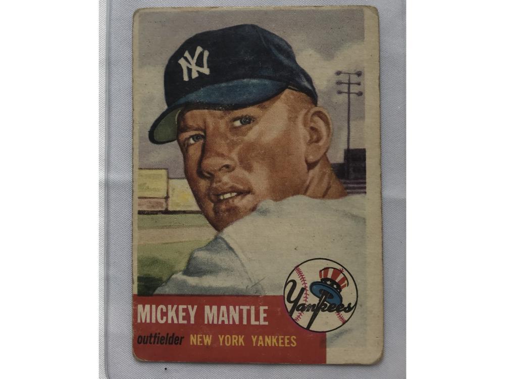 (vg) 1953 Topps Baseball Mickey Mantle