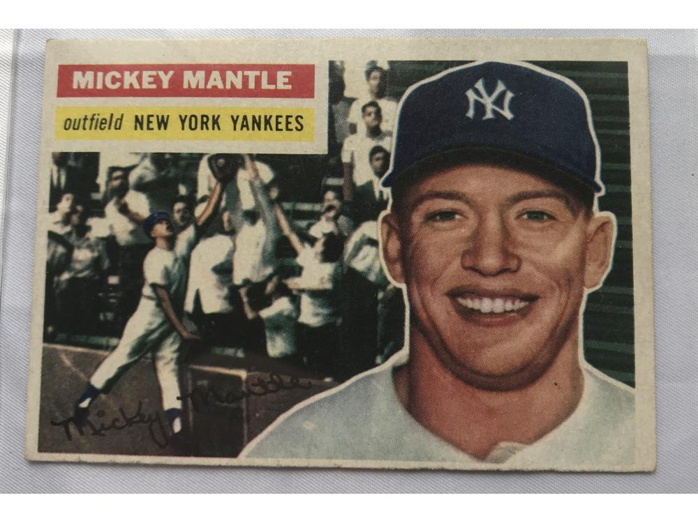(vgex-ex) 1956 Topps Baseball Mickey Mantle