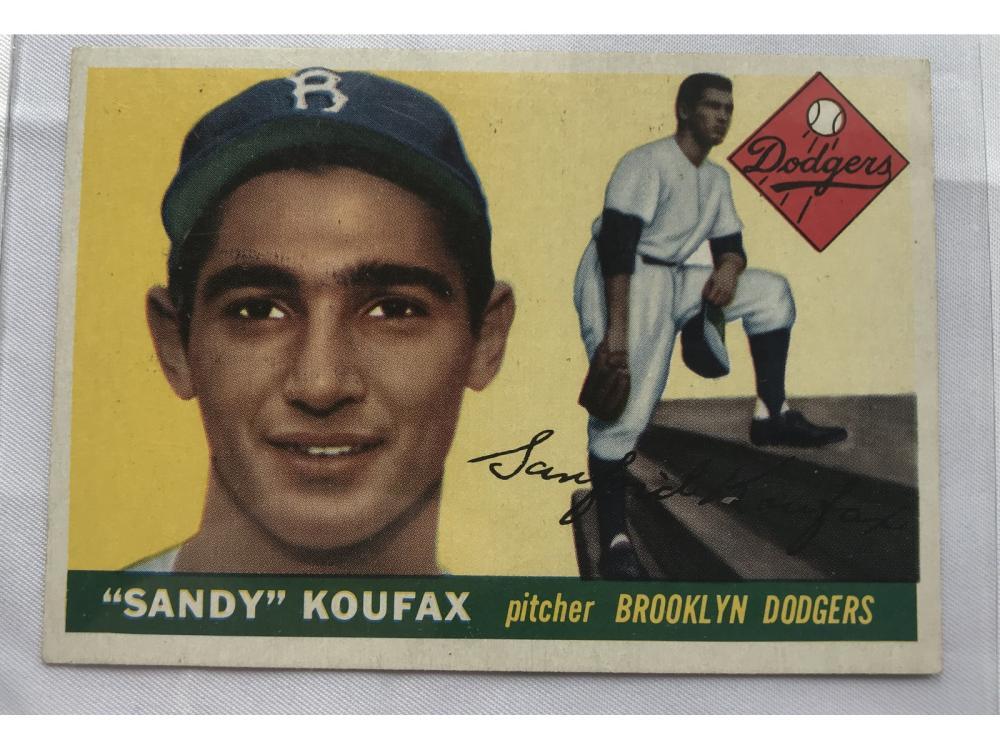 (exmt) 1955 Topps Baseball Sandy Koufax Rc