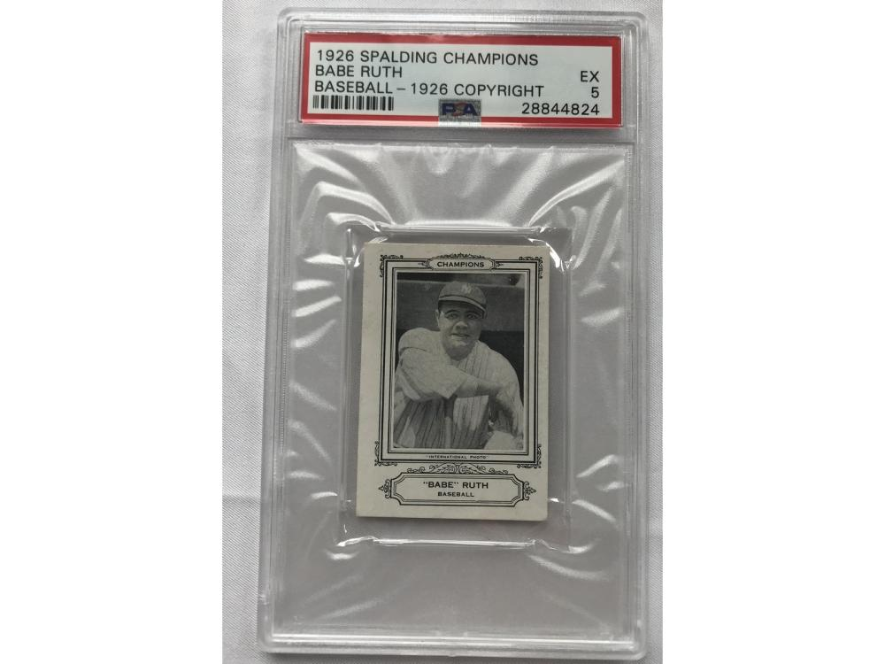 1926 Spalding Champions Babe Ruth Psa 5