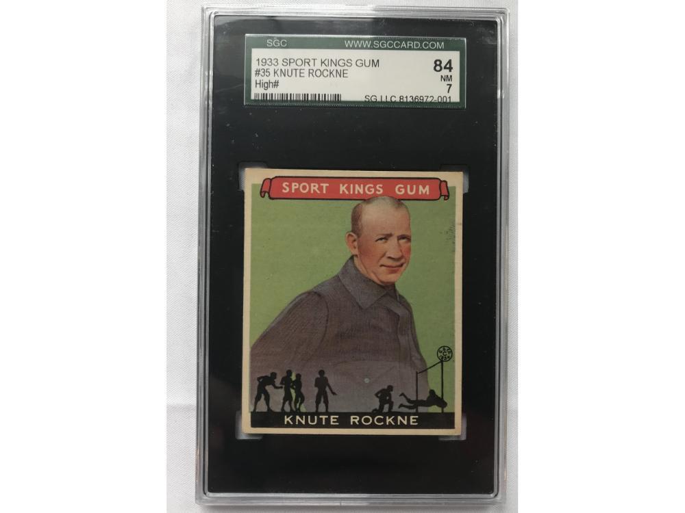 1933 Sports Kings Gum Knute Rockne Sgc 7