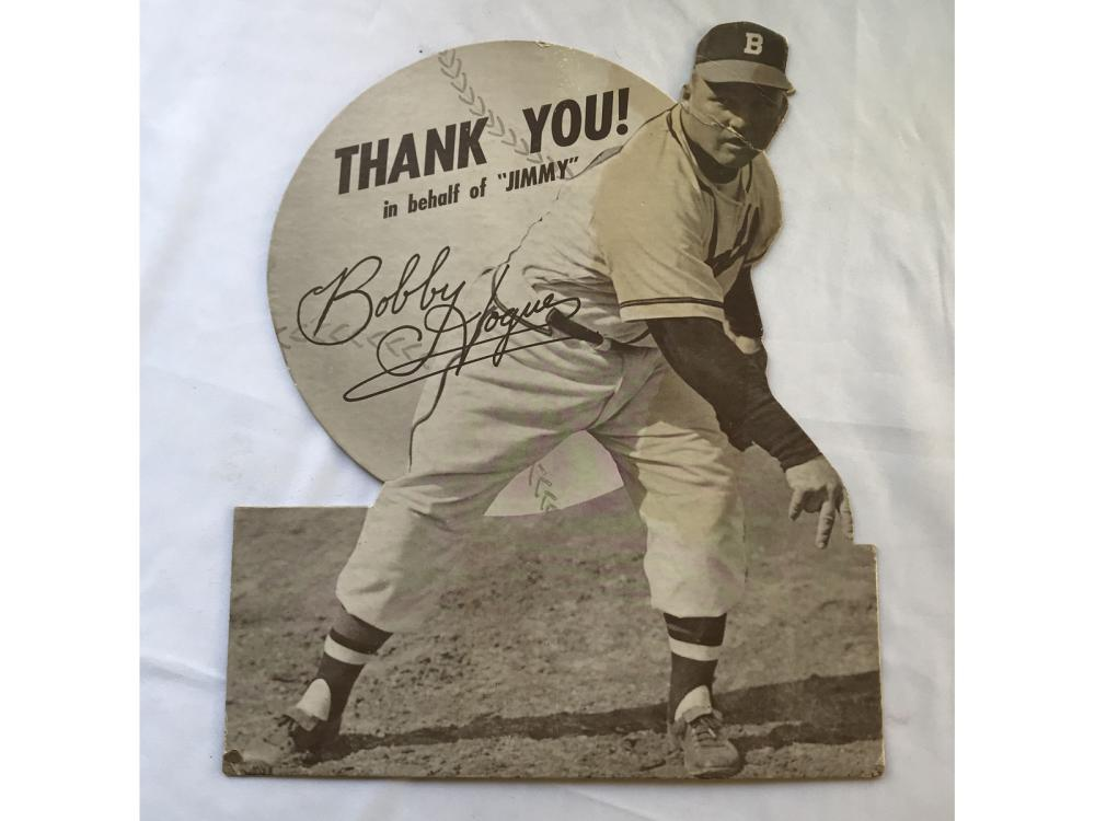 1949 Jimmy Fund Braves Stand Up: Bobby Hogue