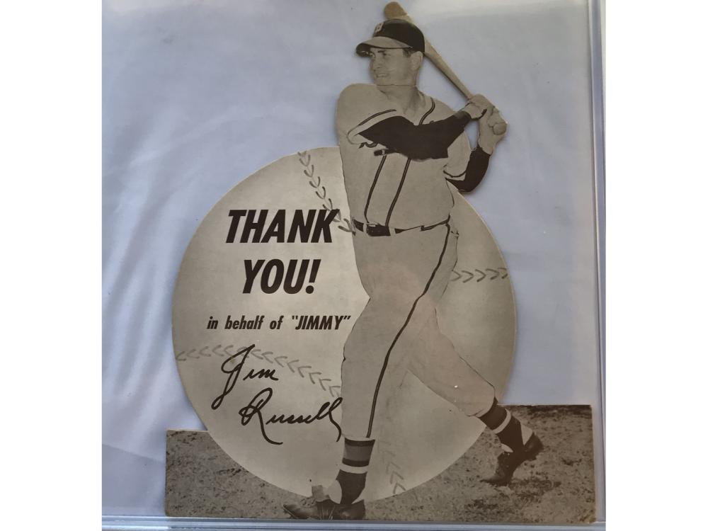 1949 Jimmy Fund Braves Stand Up: Jim Russell
