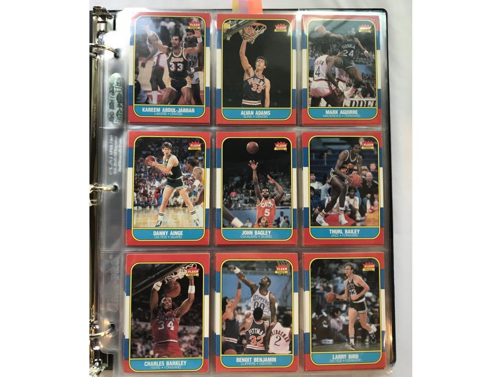(131/132) 1986 Fleer Basketball Near Set