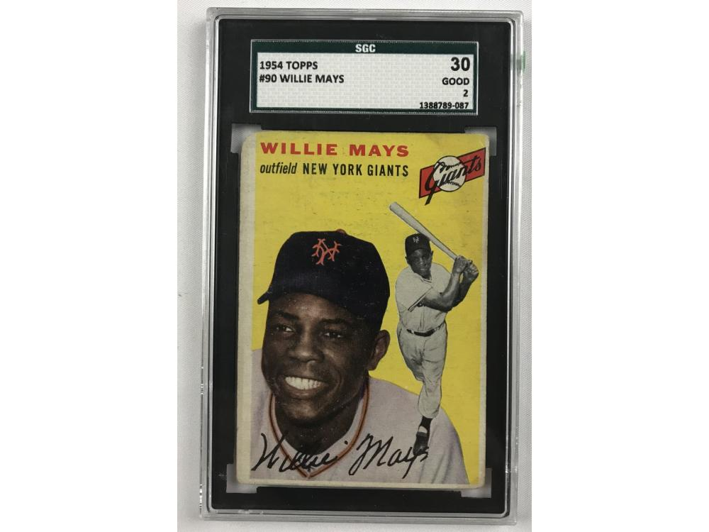1954 Topps Willie Mays Sgc 2