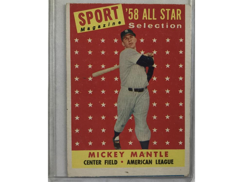 1958 Topps All-star Mickey Mantle