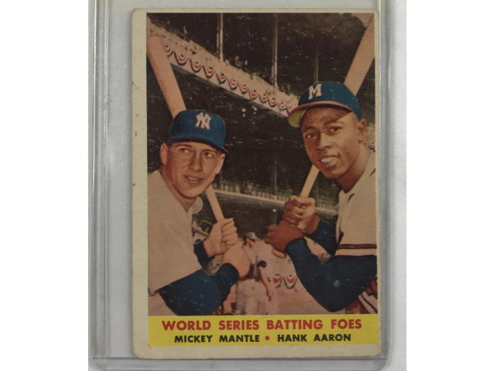 1958 Topps Batting Foes Mantle/aaron