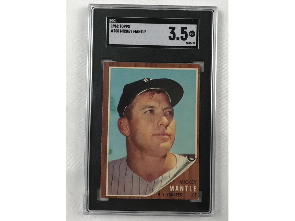 1962 Topps Mickey Mantle Sgc 3.5