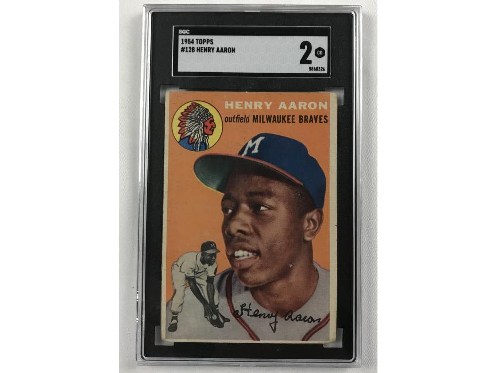 1954 Topps Hank Aaron Rookie Sgc 2