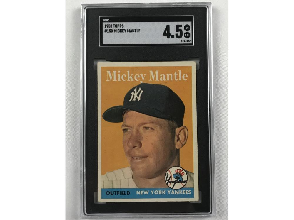 1958 Topps Mickey Mantle Sgc 4.5