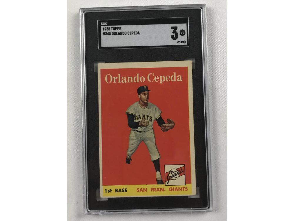 1958 Topps Orlando Cepeda Sgc 3