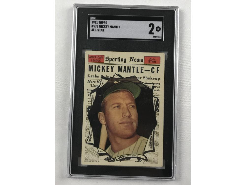 1961 Topps Mickey Mantle All-star Sgc 2