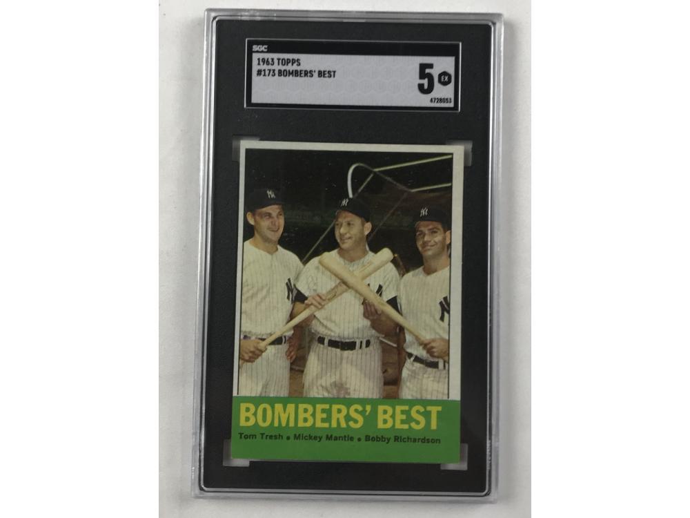 1963 Topps Bombers Best Sgc 5