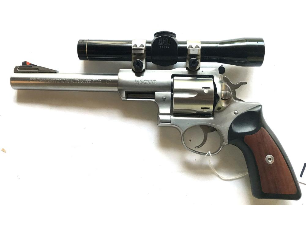 Ruger P-85 44 Caliber Revolver With Scope