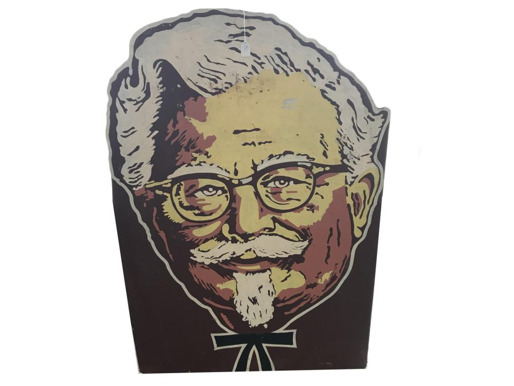 Large Kentucky Fried Chicken Die Cut Wooden Sign