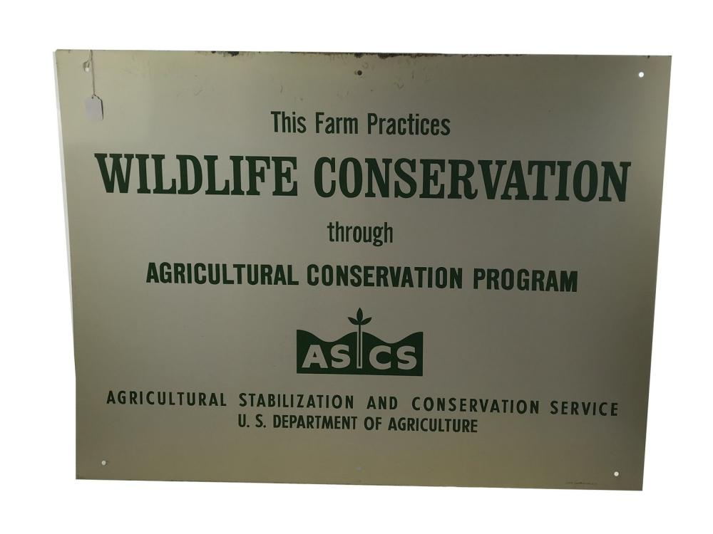 1960 Wildlife Conservation Metal Sign