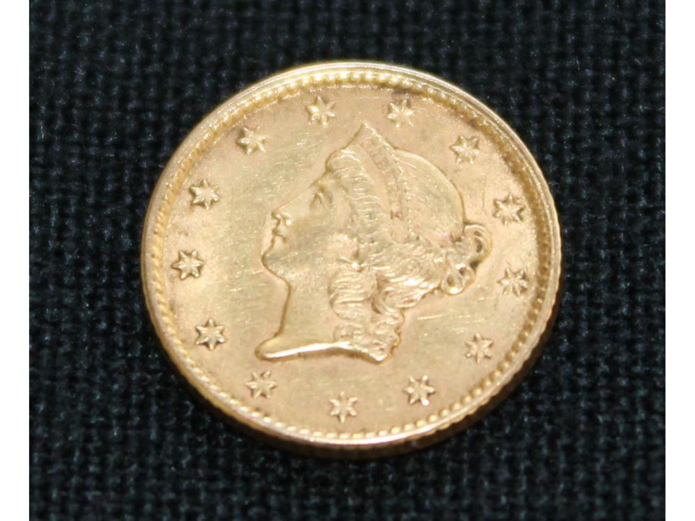 1853 Us $1 Gold Coin