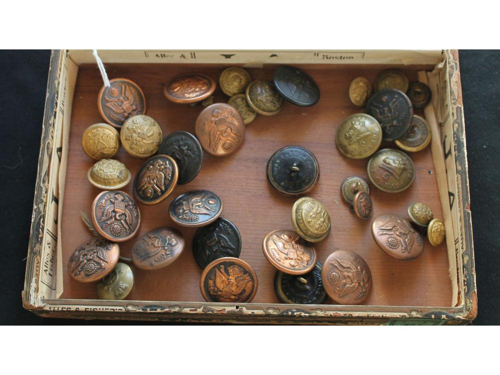 Box Of Military Buttons Various Makers