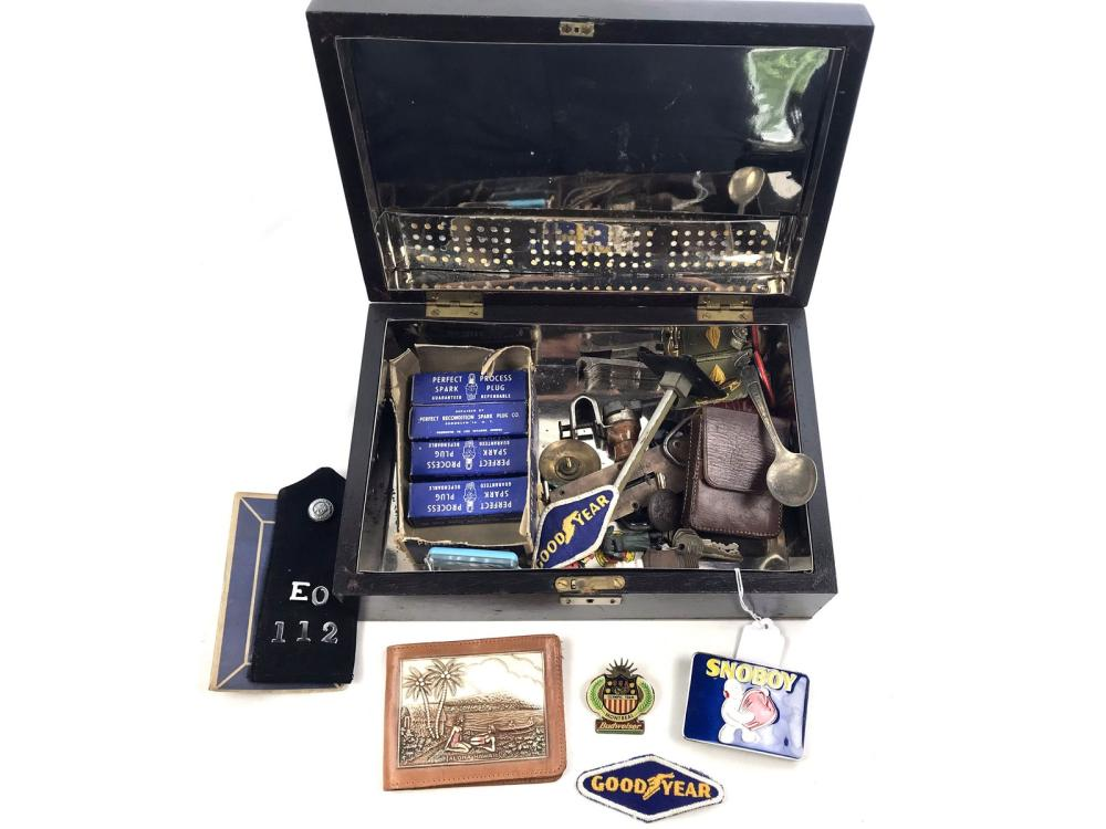 Estate Humidore Filled With Collectibles