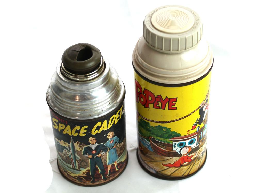 (2) Thermos: Popeye & Space Cadet