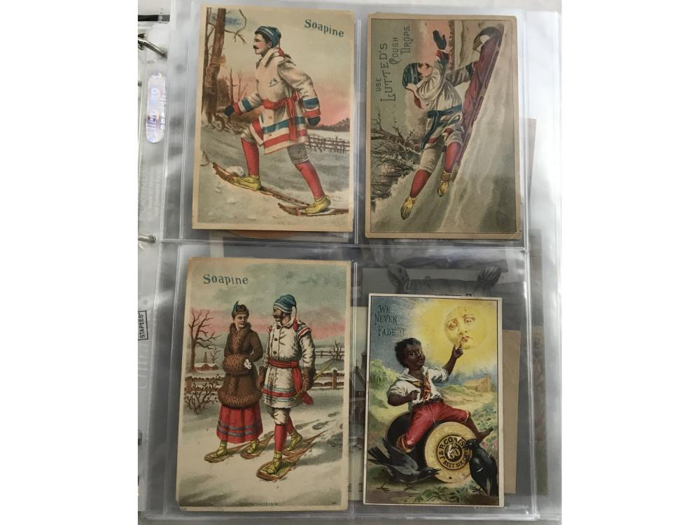 Collection Of 80+ Vintage Trade Cards