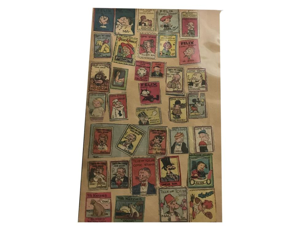 Collection Of 414 Comic Stamps