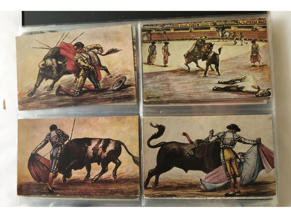 Collection Of 100 Bullfighter Postcards