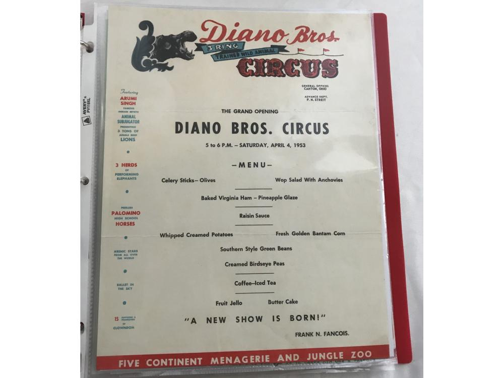 Circus Ads/tickets/poster/programs . . .