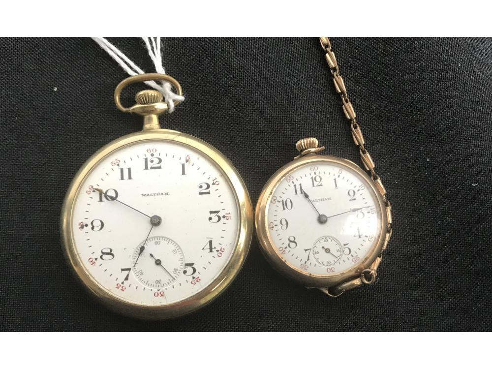Two 15 Jewel Antique Pocket Watches