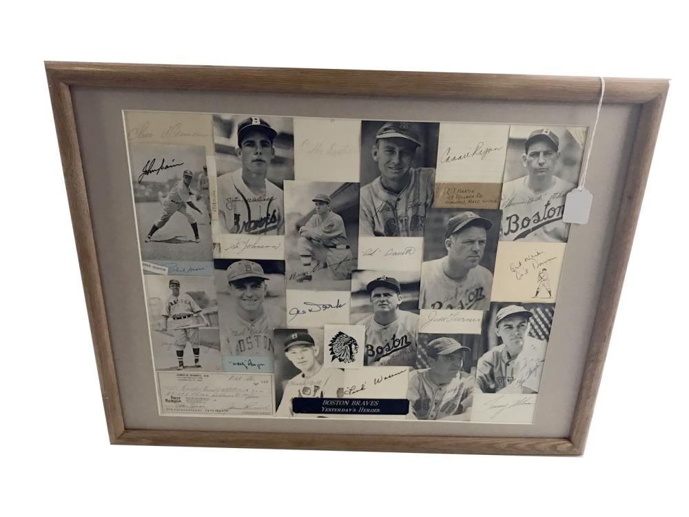 Boston Braves Collage Signed(26 Players)