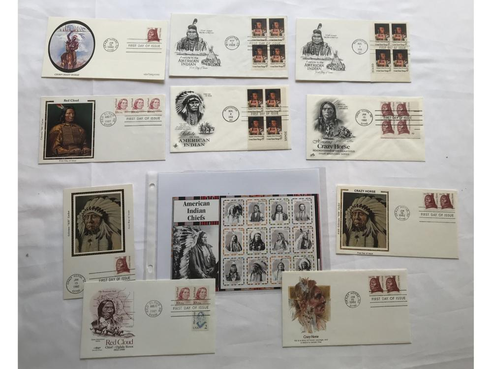 (10) Indian First Day Covers W/ Stamps