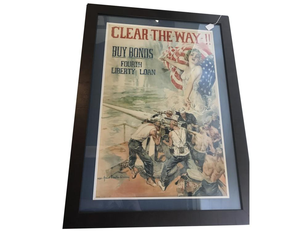 Original Wwi Clear The Way Bond Poster