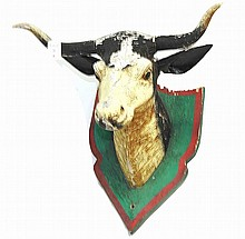 Folk Art Steer Head Trade Sign