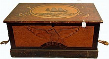 Carved Nautical Chest by Robert Lee Perry