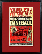 Rare Negro League Baseball Broadside