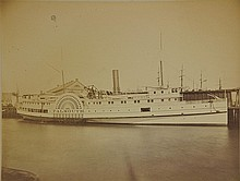 19th Century Albumen Photo Falmouth side wheeler