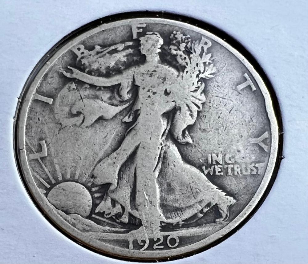 5 Walking Liberty Half Dollars