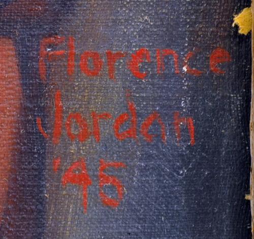 Antique Oil On Canvas Portrait By Florence Jordan