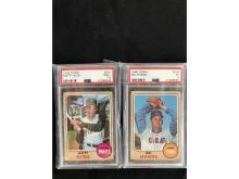 Two Psa Graded 1968 Topps Baseball Cards