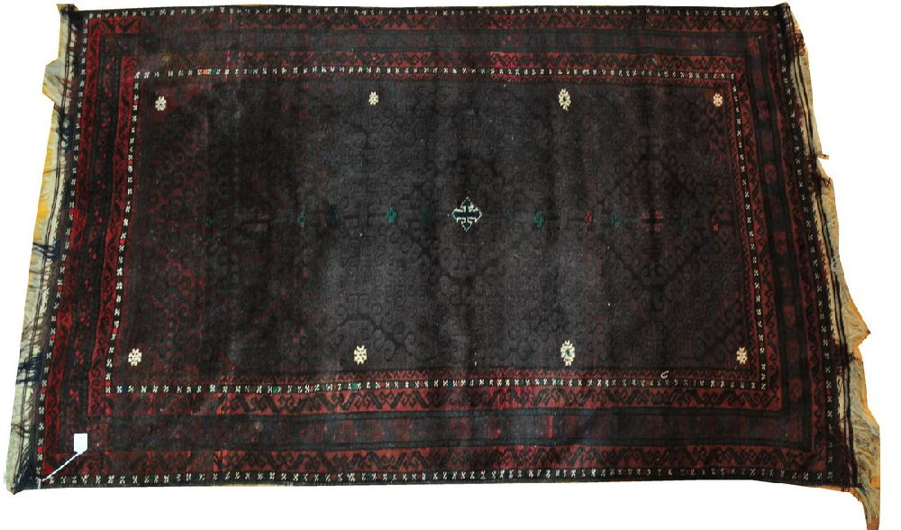 Middle Eastern Rug 79 Quot L X 49 1 2 Quot W With Dark Red Coloring An