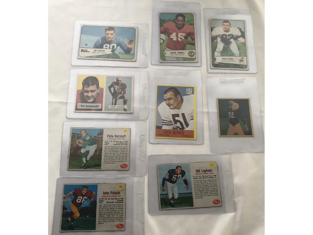 (14) 1950s-60s Football Hofs/stars Collection
