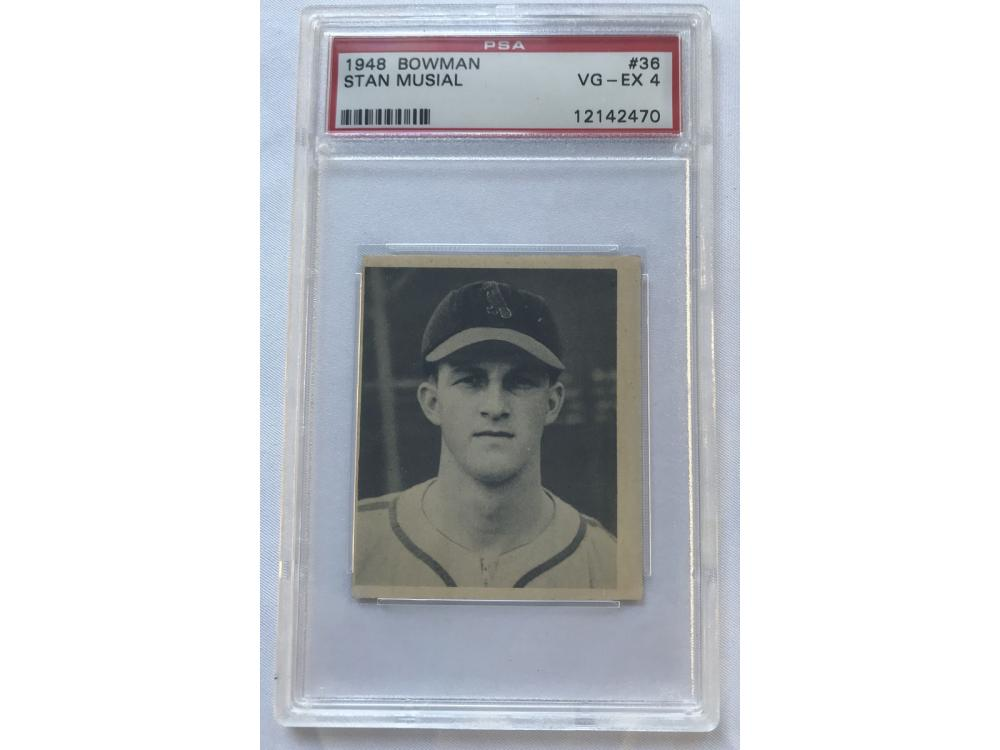 1948 Bowman Stan Musial Rookie Psa 4