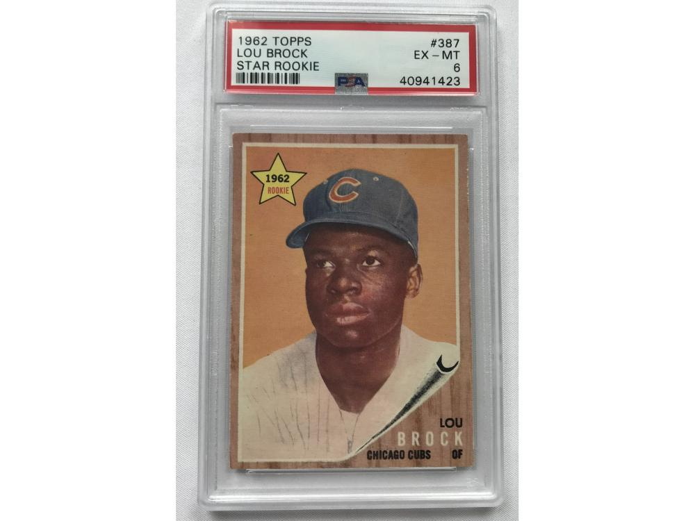 Psa 7 (nm) 1962 Topps Lou Brock Rc-star Rookie