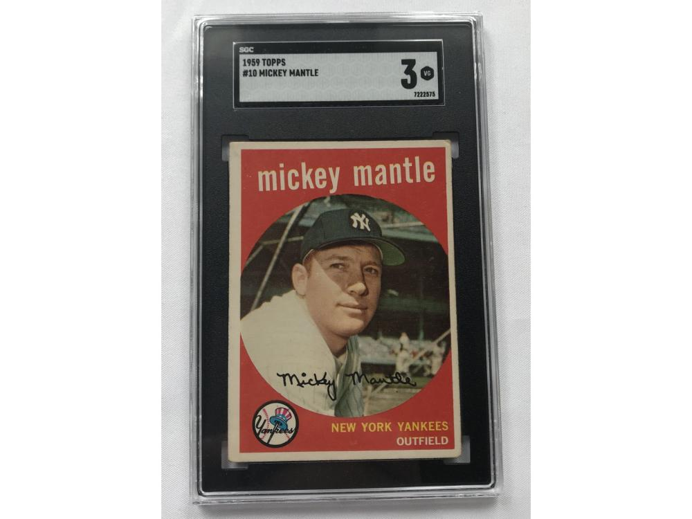 Sgc 3-1959 Topps Mickey Mantle #10
