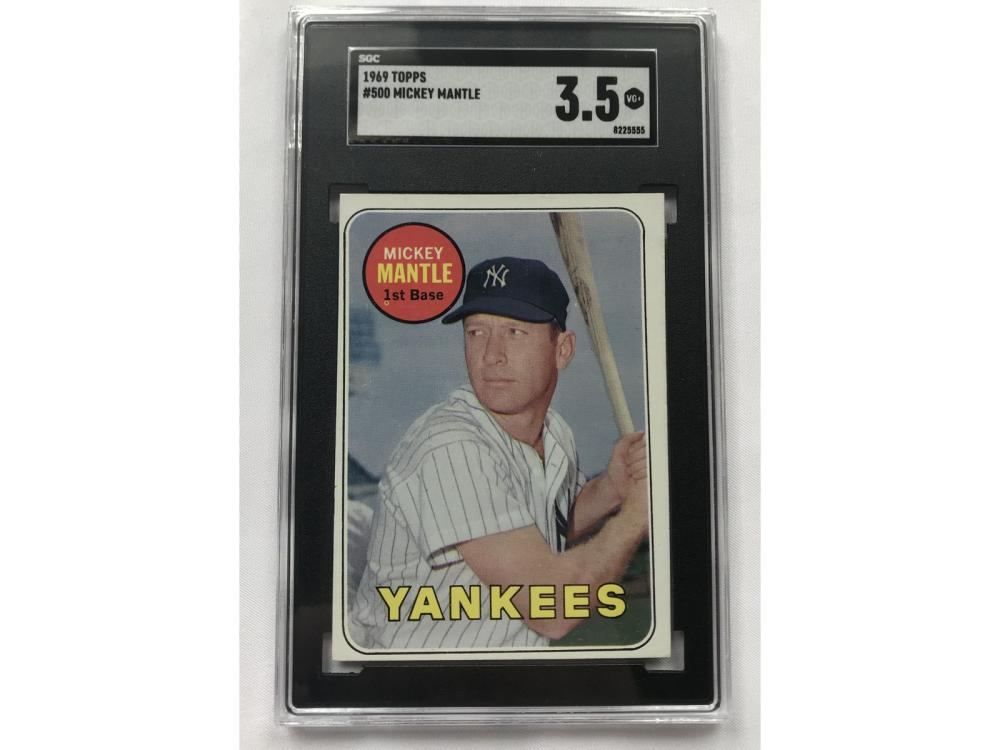 Sgc 3.5-1969 Topps Mickey Mantle #500