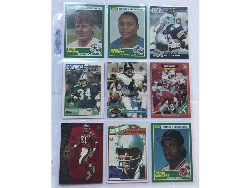 9 Football Rookie Cards