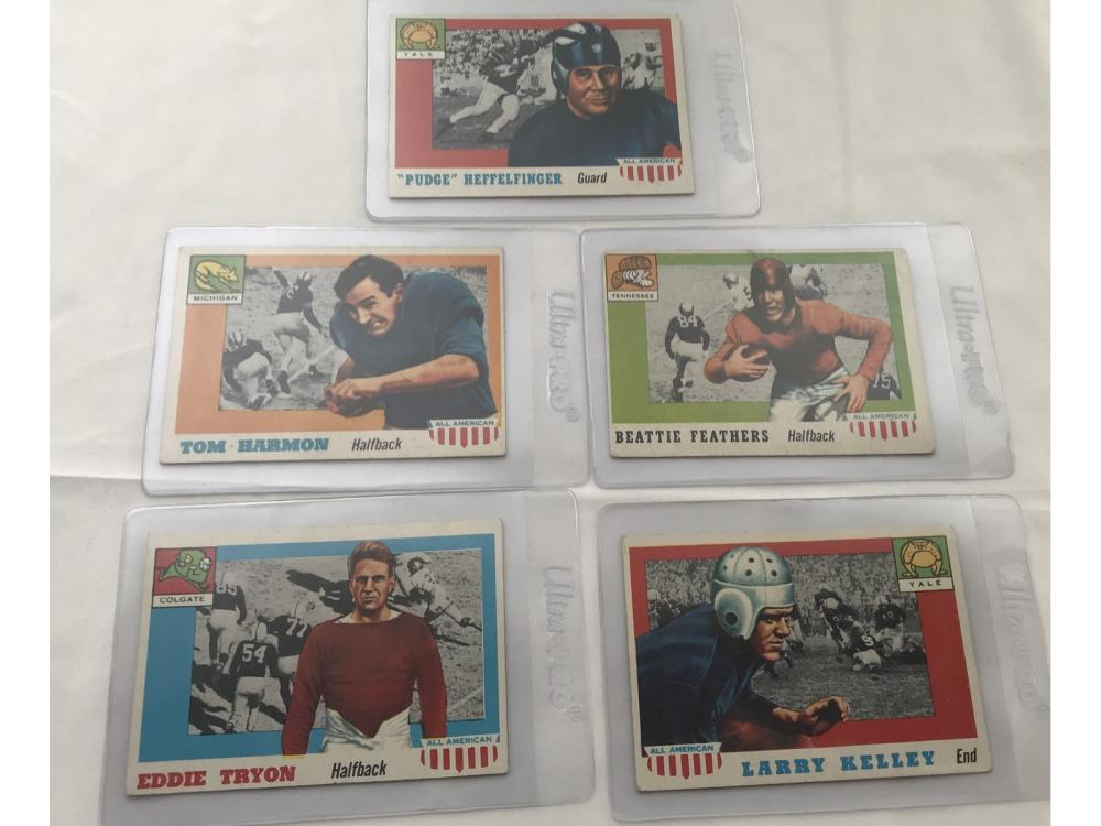 (12) 1955 Topps All American (all Short Prints)
