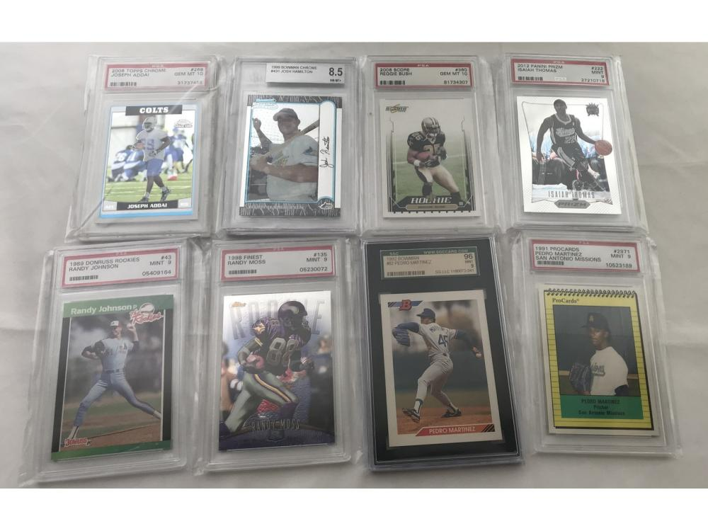 (17) Modern Sports Highly Graded Rookie Cards