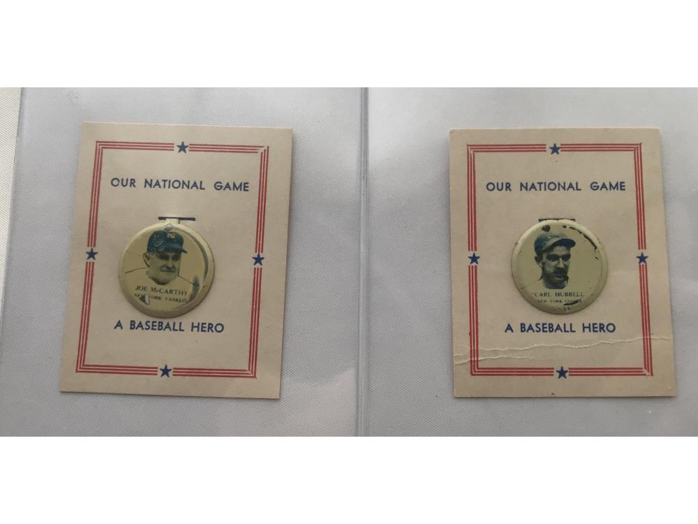 "Pair Of Hof 1938 ""our National Game"" Pins"